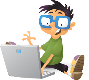 Illustration: Kid with laptop